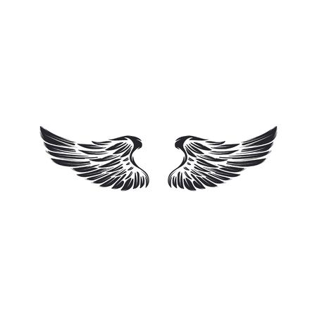 Wings isolated on white background. Reklamní fotografie - 84511652