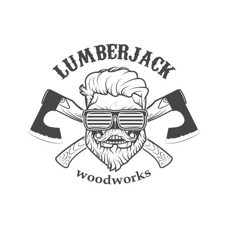 Carpentry service emblem. Vector illustration Reklamní fotografie - 84511661