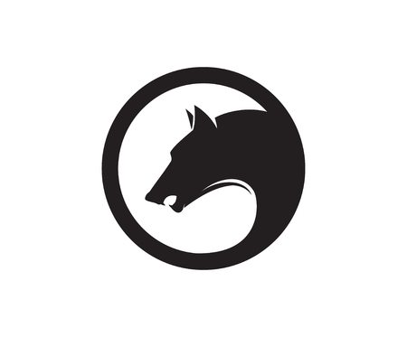 emblem template with wolf head. Reklamní fotografie - 84511662