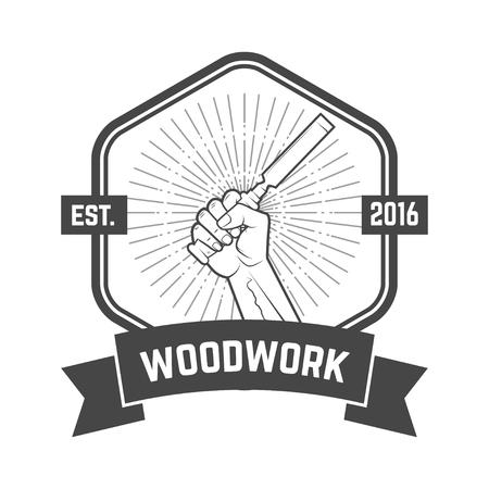 Carpentry service emblem. Vector illustration Reklamní fotografie - 84511663