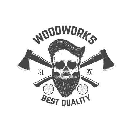 Carpentry service emblem. Vector illustration