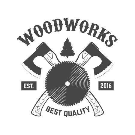 Carpentry service emblem. Vector illustration Reklamní fotografie - 84511678