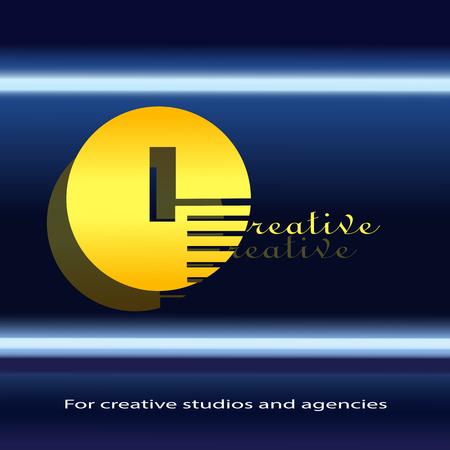 Logo for creative / badge for business cards / letter C Logo