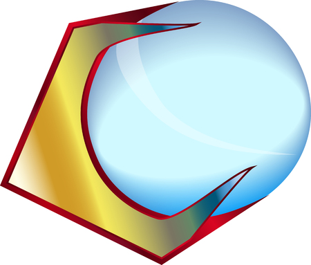 Letter C and a glass ball gradient Banco de Imagens - 84339236
