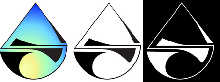 Minimalist abstraction from a semicircle and a triangle design logo Illustration