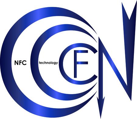 A contact less payment technologies NFC logo Çizim