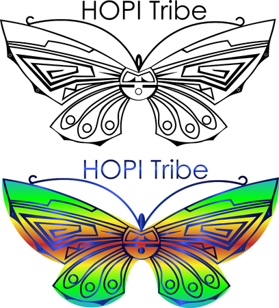 Hopi Tribe Butterfly Symbol Royalty Free Cliparts Vectors And