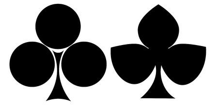 Clubs card suit icon Reklamní fotografie - 98547499