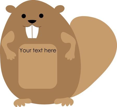 Joyful beaver label