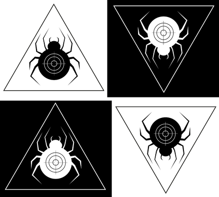 Spider in a triangular frame spider creative minimalist