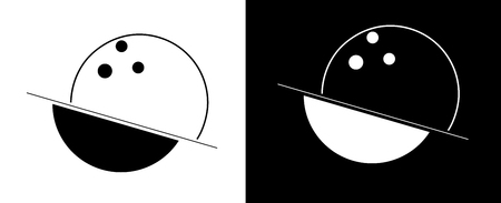 abstraction from the line, circles and spheres, bowling minimalist logo