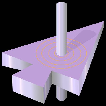 abstract 3D logo of the direction of movement forward and up