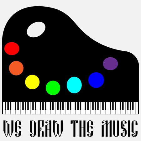 logo of the music in the form of a piano and palette