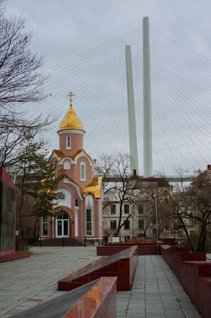 photo view of the chapel of saint ilya of muromets from the eternal flame memorial Stock fotó