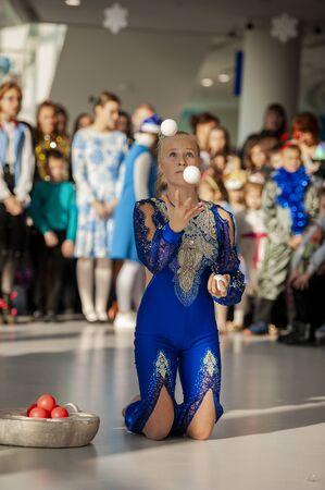 performance of Vladivostok circus artists before the new year Stock fotó - 142401768