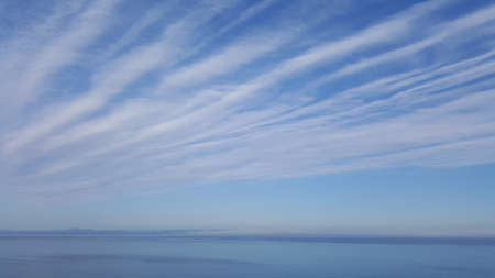 art photo of the morning sky and the Sea of Japan with clouds in Vladivostok