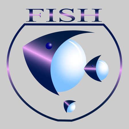 Creative logo of aquarium fish