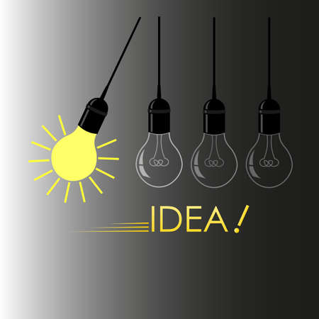 the idea in the form of a glowing light bulb conveys the solution to the problem 1 Illusztráció