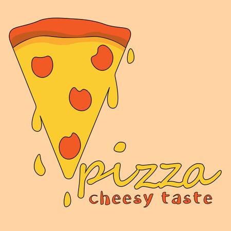 cheese taste original pizza with sausage logo