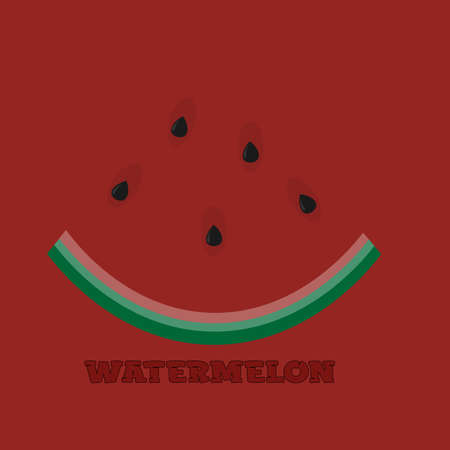 watermelon slice logo on a red background with the inscription 1