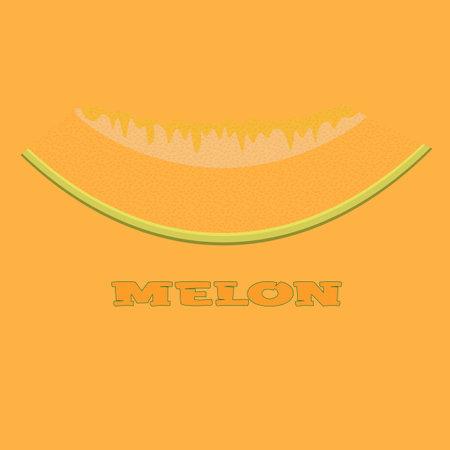 melon slice logo on a yellow background with the inscription 3 Illusztráció