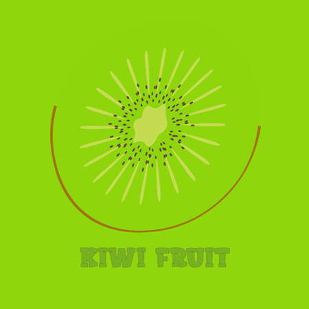 kiwi fruit slice logo on a green background with the inscription 1