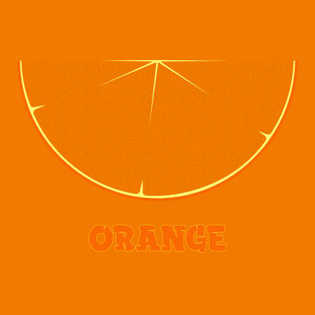 orange slice logo on an orange background with the inscription 1 Illusztráció
