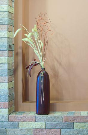 niche: Ceramic vase in brick niche