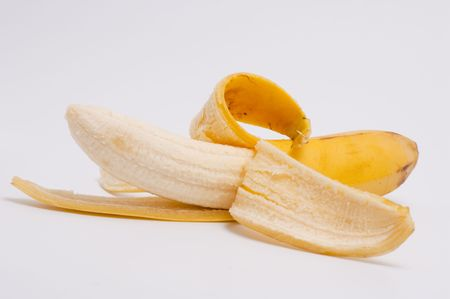 freshest: Ripe tasty banana on a light background Stock Photo