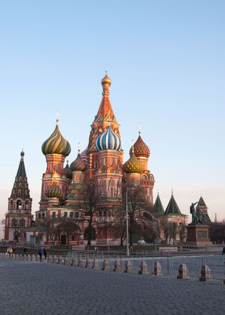 blissful: Moscow. Russia.Vasilys cathedral Blissful Stock Photo
