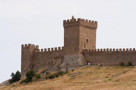 sudak: Genoese Sudak Castle. Cimea, Ukraine