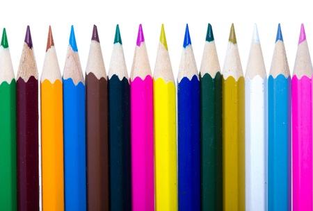 Set of color pencils photo
