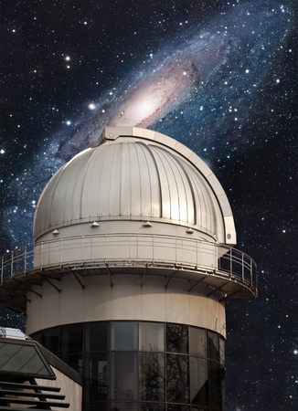 astrophysics: Big dome of astronomical scientific observatory