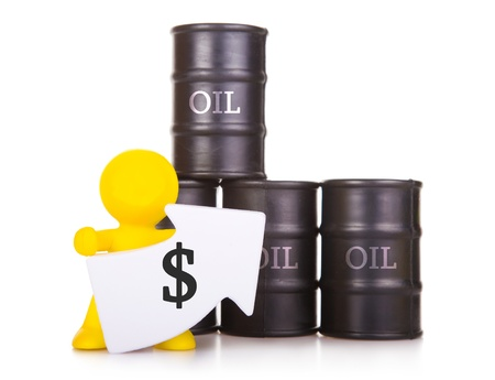The person costs near barrels with oil and handles the index which has been directed upwards  Growth of the world prices for oil  photo