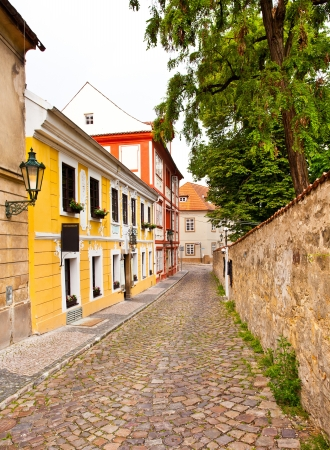 Old streets in the central district of Prague. Prague, Czech republic