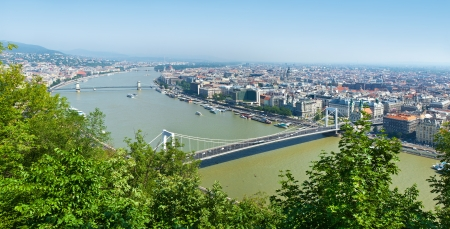 Panorama of Budapest, Hungary  View of the city and the river Danube with top photo