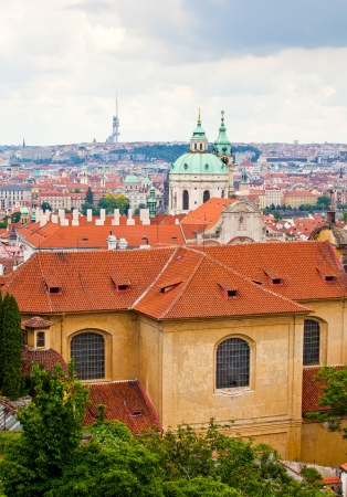 Tile roofs of old Prague. Top view Stock Photo - 15254129