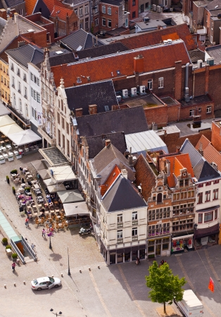View of the city of Malines  Mechelen  from height of bird