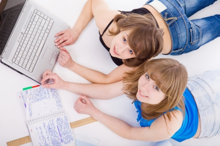 Two students prepare for employment photo