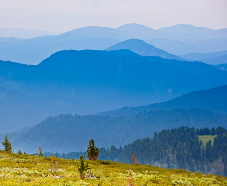 brea: Mountain landscape in sunny summer day