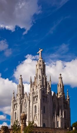 sagrat cor: The Temple del Sagrat Cor  Church of the Sacred Heart   Barcelona  Spain