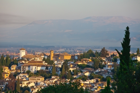 Granada in the early morning at sunrise photo