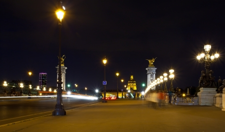 Les Invalides (The National Residence of the Invalids) at night - Paris, France photo