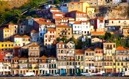 ribeira:  View of  historical downtown, Porto, Portugal