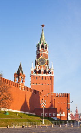spassky: Russia, Moscow. Spassky Tower of Moscow Kremlin