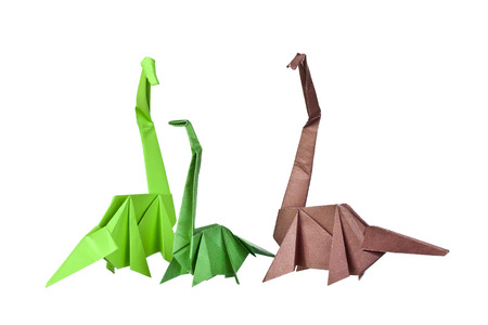 Origami Paper figures of dinosaurs photo