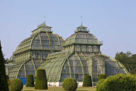 nbrunn: front side of palm house  in Vienna, Austria