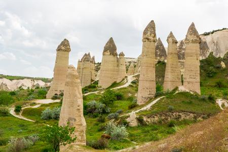 phallus: Cappadocia, rocks of an unusual form in the Valley of Love