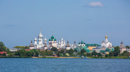 Kremlin of ancient town of Rostov the Great, Russia. Stock Photo