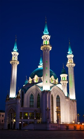 mosque Qol Sharif in Kazan , Russia